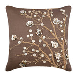 Organic Floral Pillow Cover