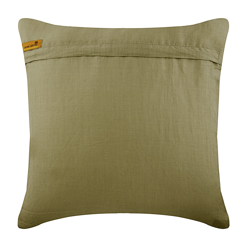 Pasha - Taupe Cotton Linen Throw Pillow Cover