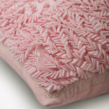 Pink Paradise - Pink Art Silk Throw Pillow Cover