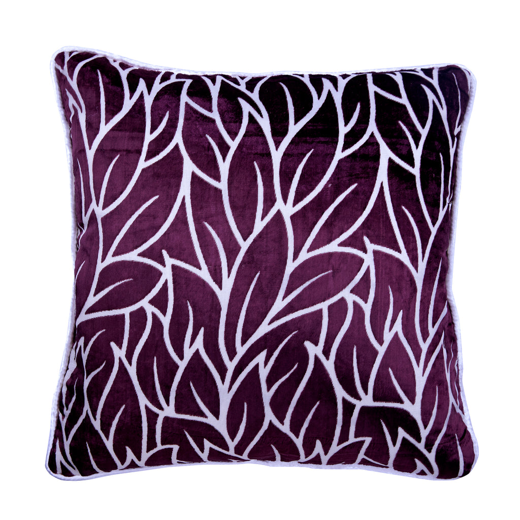 Plummy Leaves Pillow Cover