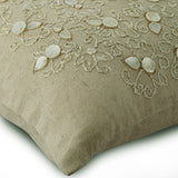 Pure Treasures - Natural Beige Cotton Linen Throw Pillow Cover