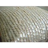 Purely Pearls - Natural Beige Cotton Linen Throw Pillow Cover