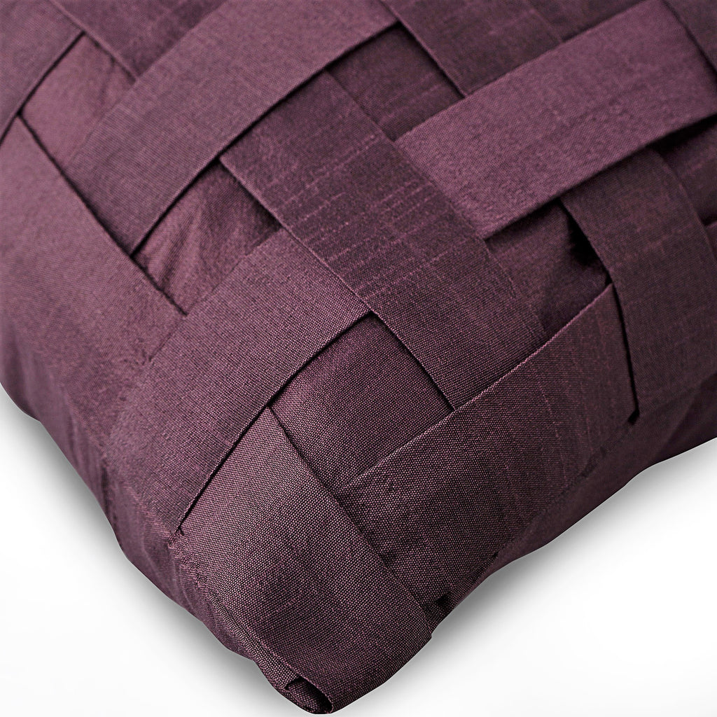 Purple N Half - Purple Leather Throw Pillow Cover