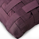 Purple N Half - Purple Faux Leather Throw Pillow Cover