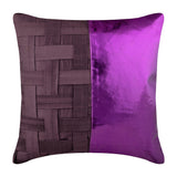 Purple N Half Pillow Cover