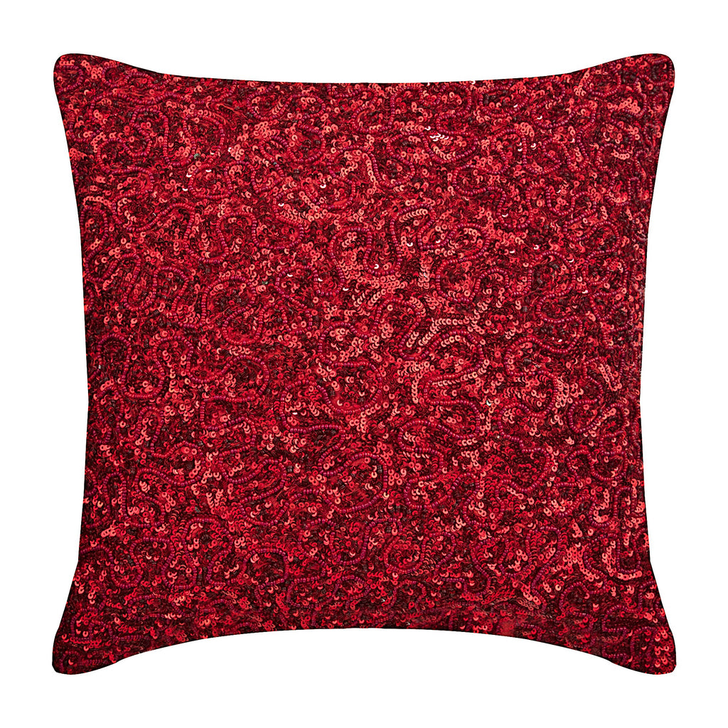 Red Glitterati Pillow Cover