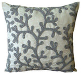 Silver Coral Pillow Cover