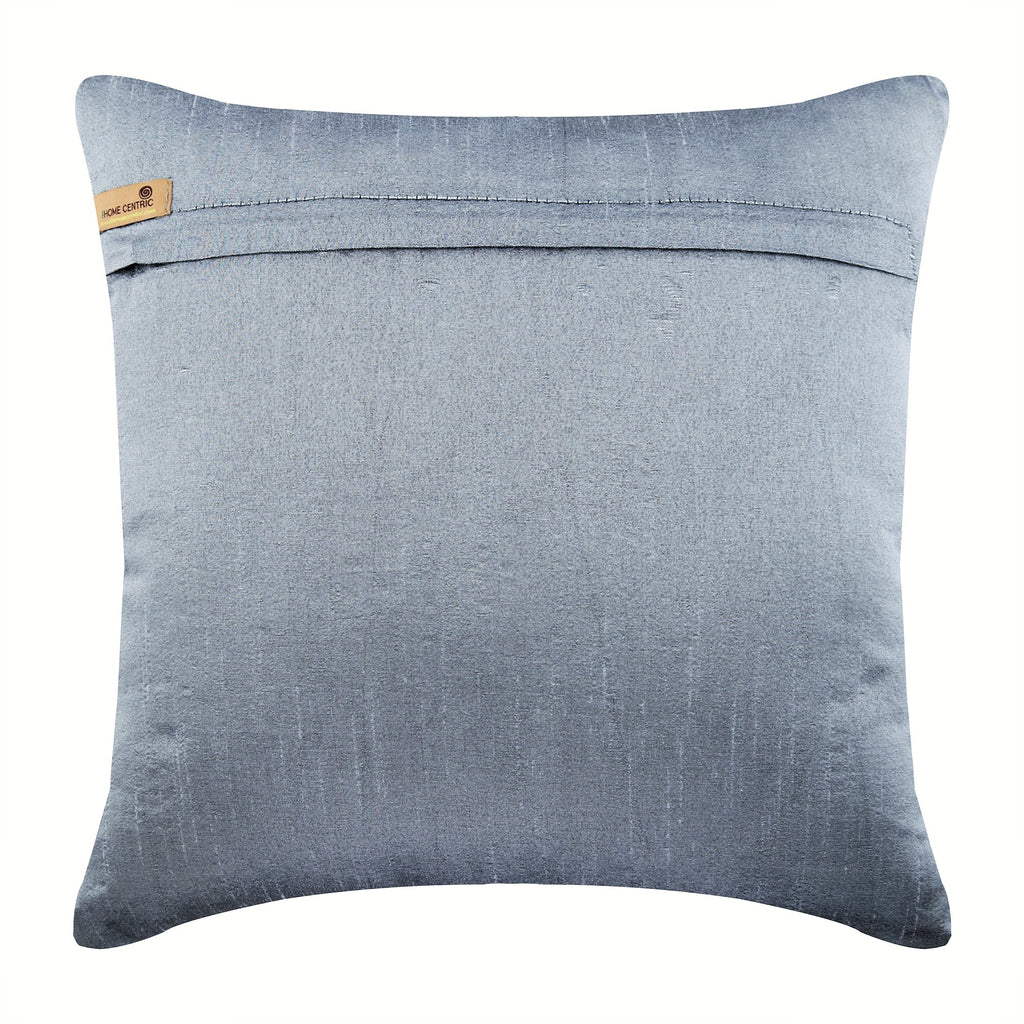 Silver Shadows - Silver Art Silk Throw Pillow Cover