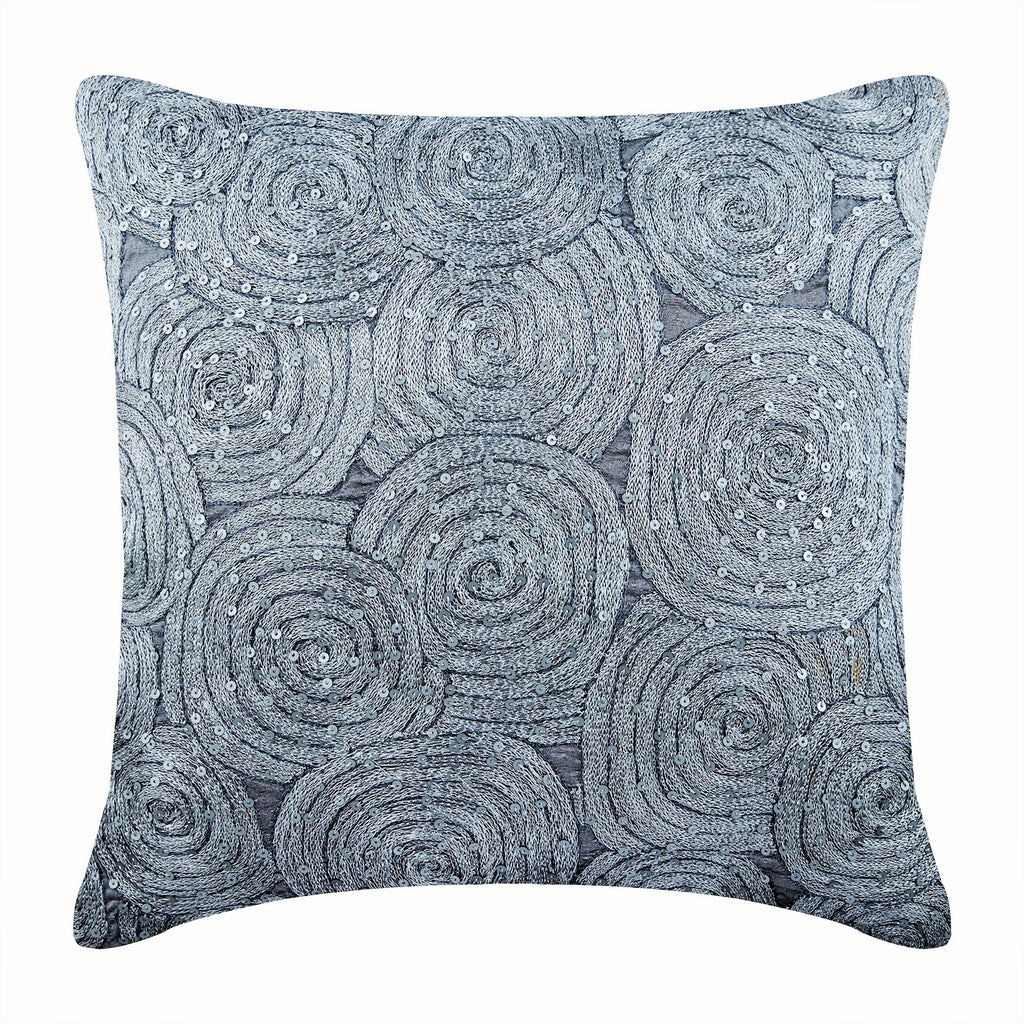 Silver Shadows Pillow Cover