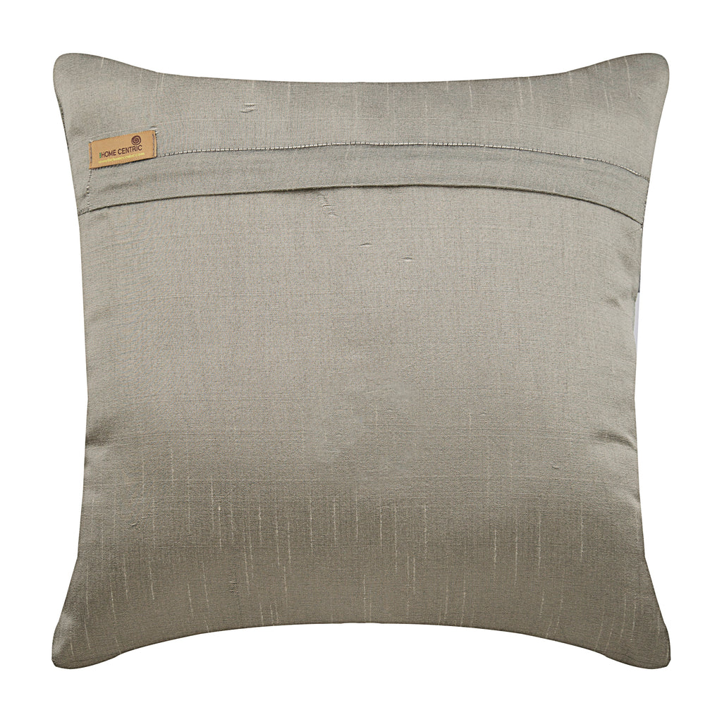 Sizzle - Gray Art Silk Throw Pillow Cover