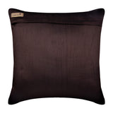 Streaks Of Color - Dark Chocolate Brown Art Silk Throw Pillow Cover
