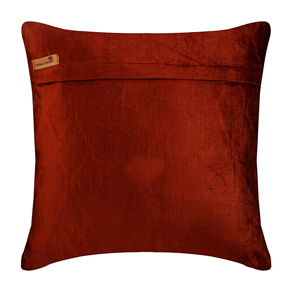 Sumac Gold - Rust Velvet Throw Pillow Cover