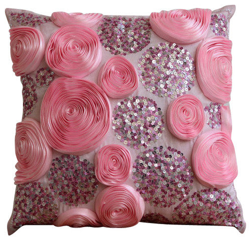Wine and Roses - Vine Art Silk Throw Pillow Cover