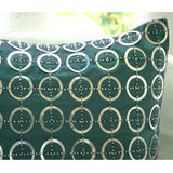 Teal N Silver Rings - Teal Blue Art Silk Throw Pillow Cover