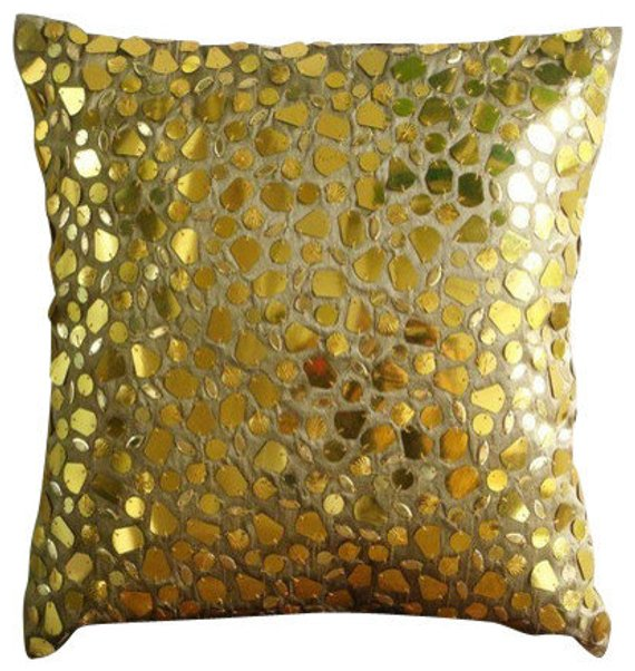 The Gold Mosiac Pillow Cover