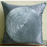 Vintage Adorned - Gray Art Silk Throw Pillow Cover