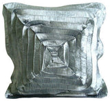 Rusty Frills - Rust Crushed Art Silk Throw Pillow Cover