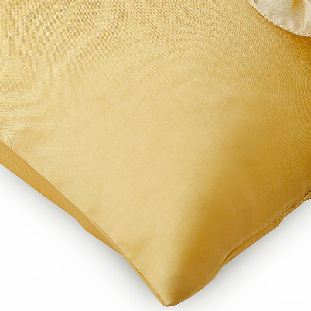 Vintage Honey - Gold Satin Throw Pillow Cover