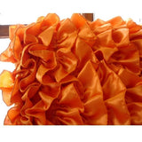 Vintage Orange - Orange Satin Throw Pillow Cover
