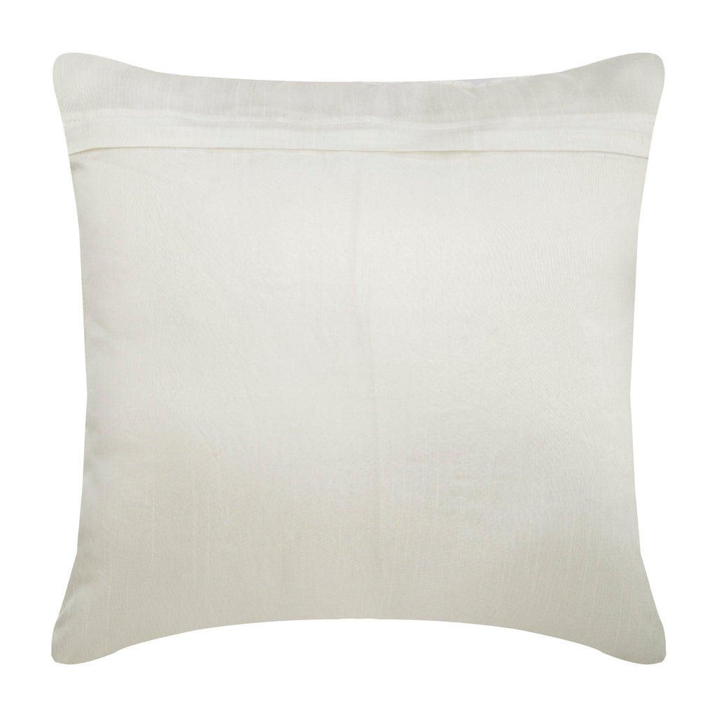 Wedding Bells - Ivory Silk Throw Pillow Cover
