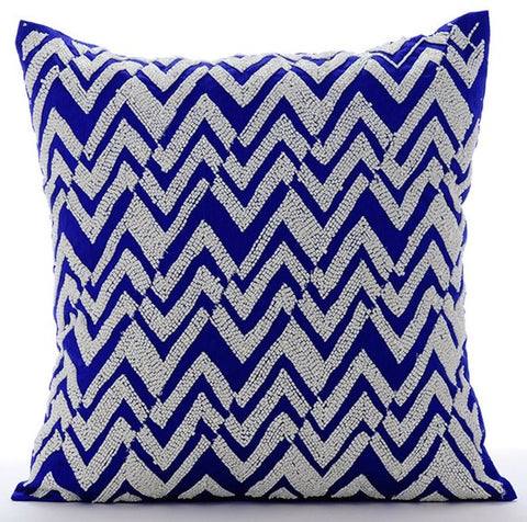 products/white-chevron-blue-silk-contemporary-lattice-trellis-beaded-pillow-covers.jpg