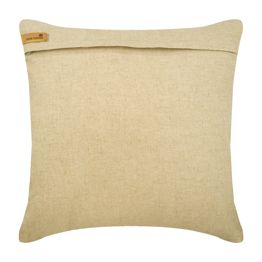 Wood Space - Natural Beige Cotton Linen Throw Pillow Cover