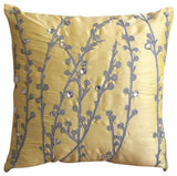 Yellow Crystal Willow Pillow Cover
