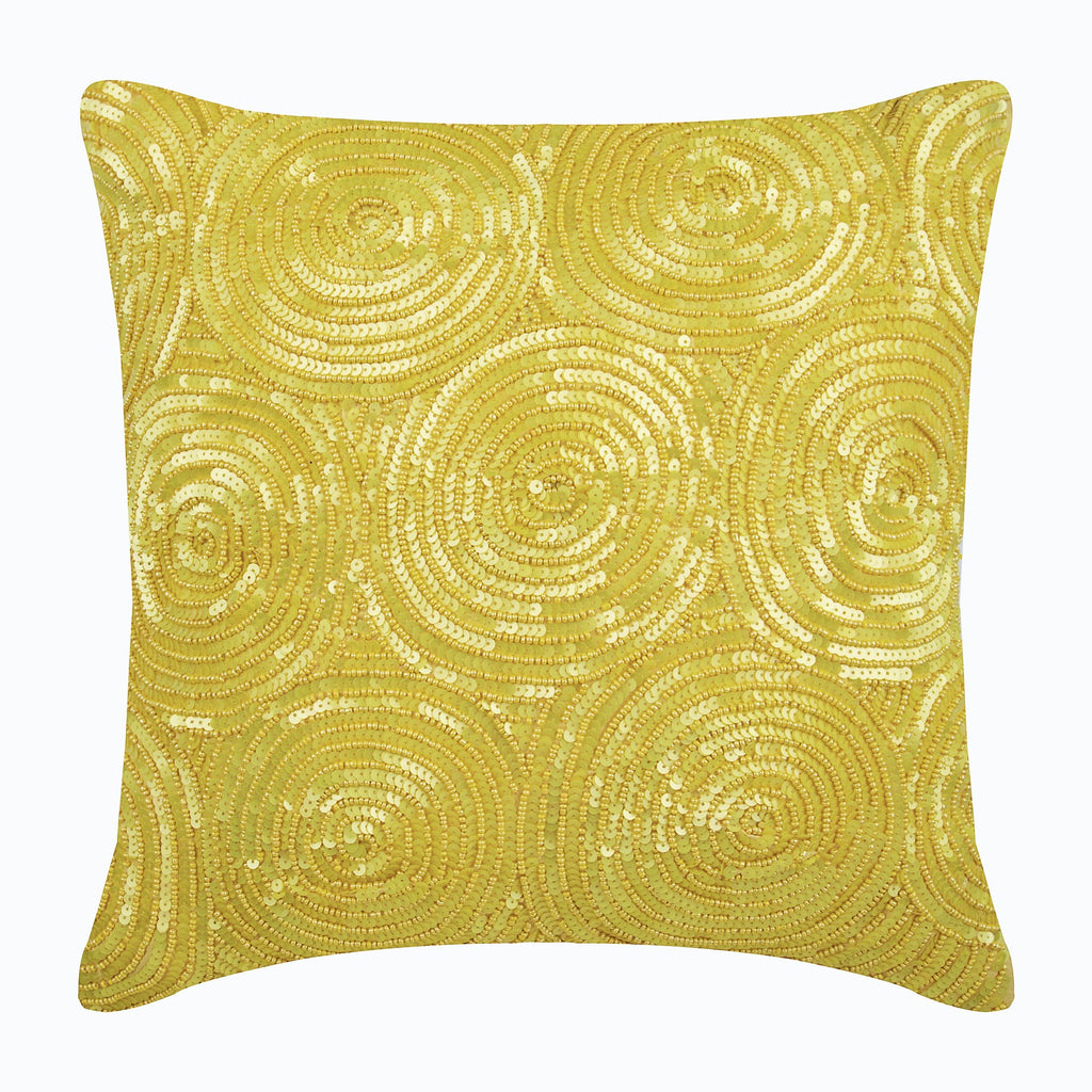 Copper Swirls - Copper Art Silk Throw Pillow Cover
