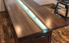 Black Walnut Resin River Counter Top