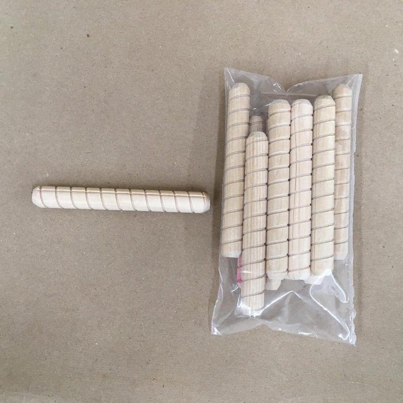 "10 Pk Dowel Pins 1/2"" x 4"" Spiral Grooved"