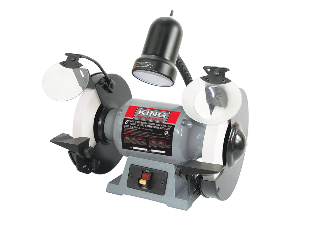 "8"" Low Speed Bench Grinder w/ Light"