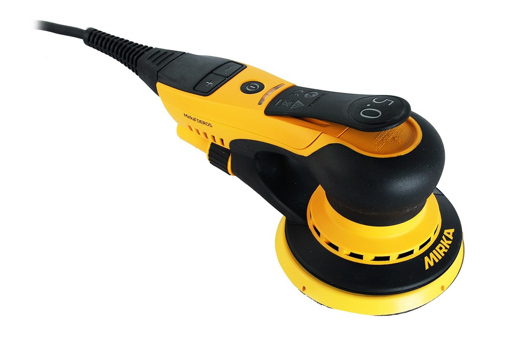 "DEROS 5"" Vacuum-Ready Electric Sander 5mm orbit"
