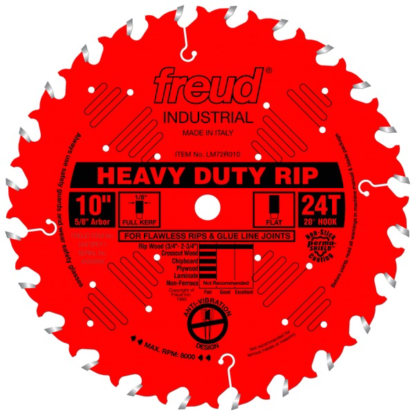 "10"" Heavy-Duty Rip Blade, 24T"