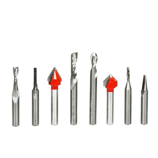 8 Piece CNC Router Bit General Purpose Set