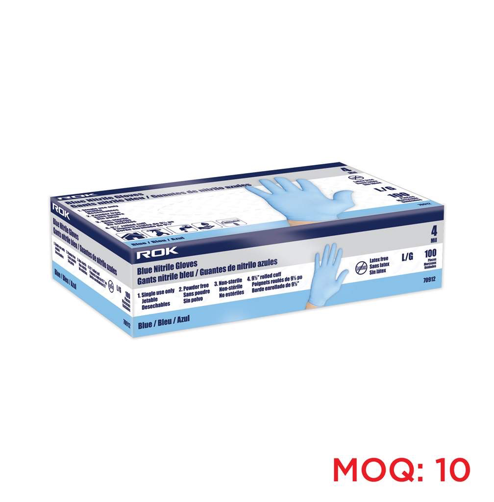 Nitrile Gloves 4 Mil Blue 100 Pc Large