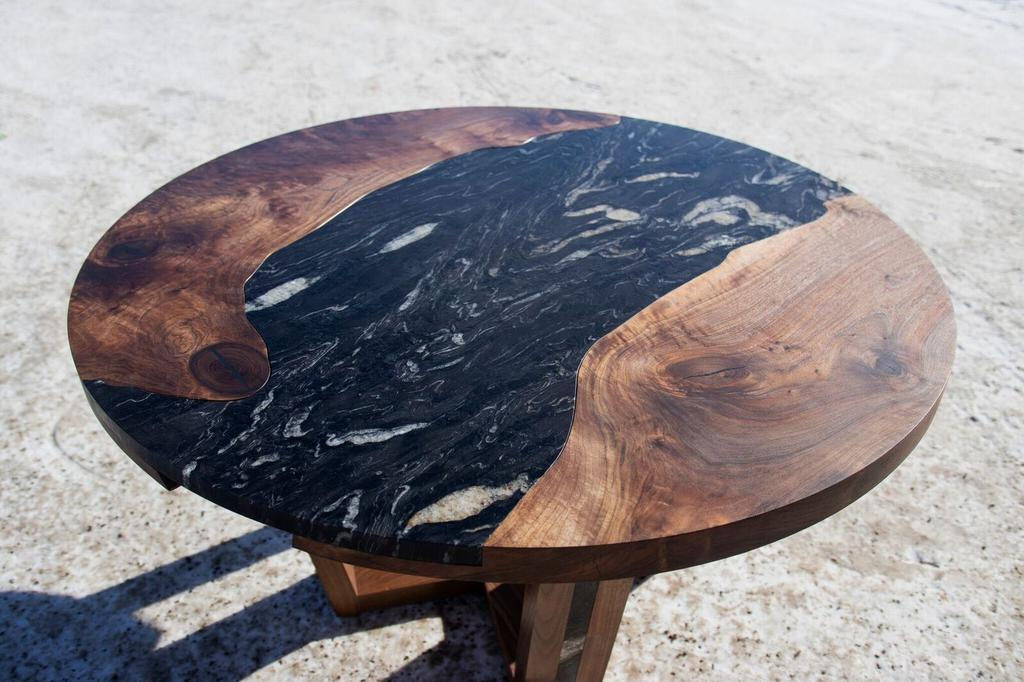 Walnut and Granite Fusion Table