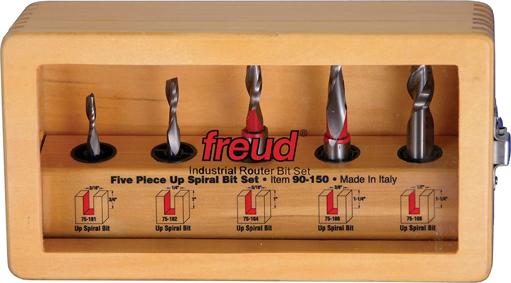 5 Piece Up Spiral Bit Set