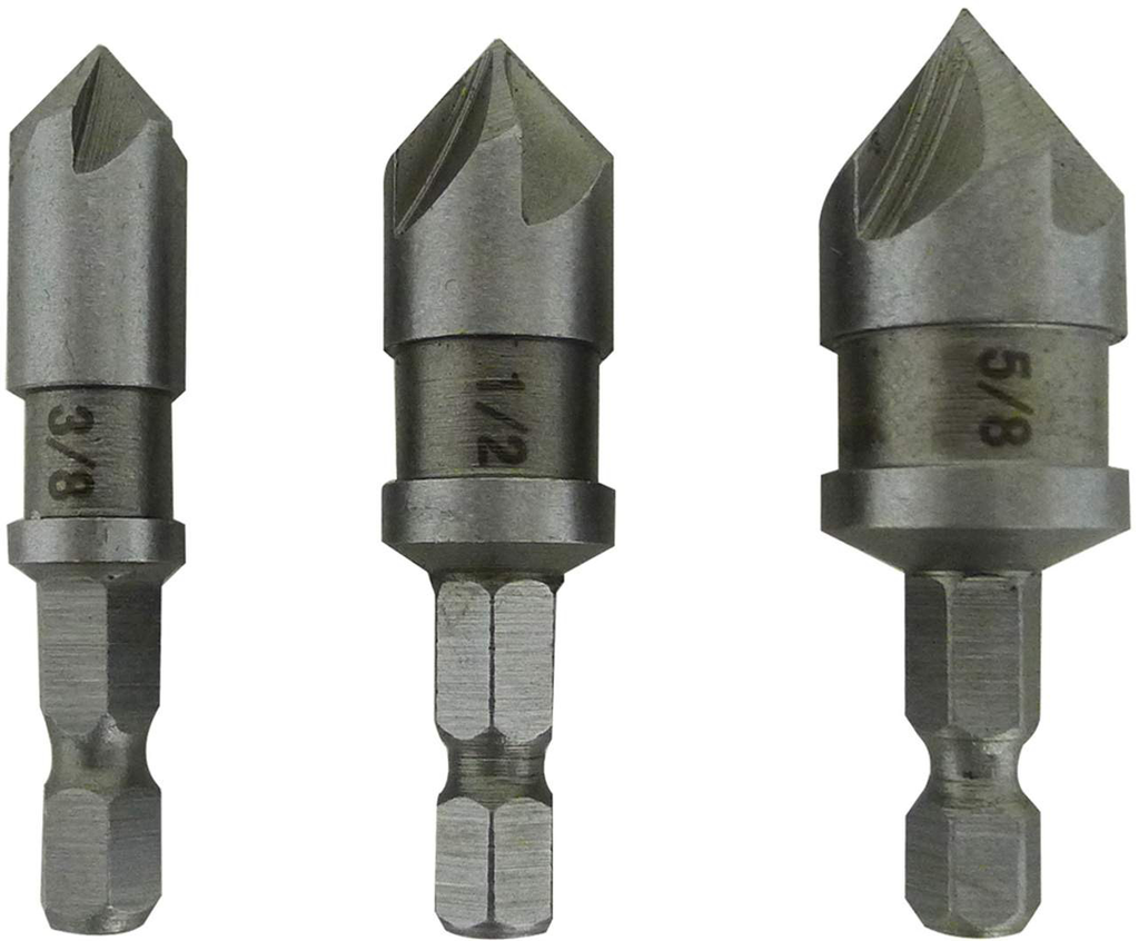 3 pc Countersink Bit Set
