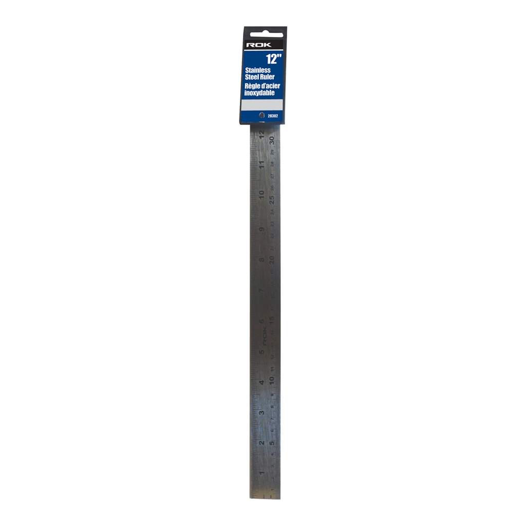 "12"" Stainless Steel Ruler"