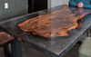 Claro Walnut Smoky Grey Resin Cast Dining Table