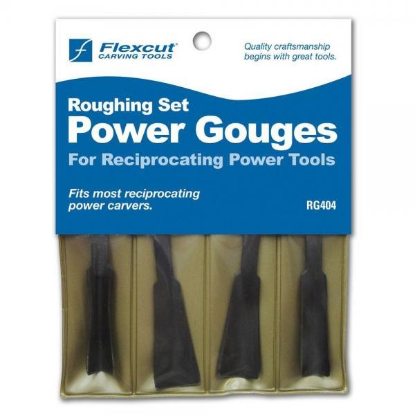 4 Pc. Roughing Set Power Gouges