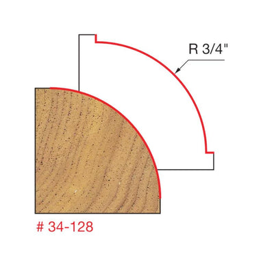 "3/4"" Radius Rounding Over Bit, Quadra Cut"