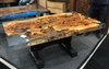 "4"" Thick Maple Burl Dining Table"