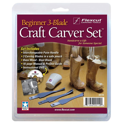 Beginner 3-Blade Craft Carver Set