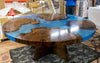 Round Walnut Burl Dining Table