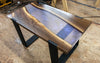 Black Walnut Iridescent Resin Coffee Table