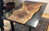 Smoky Grey Claro Walnut Dining Table