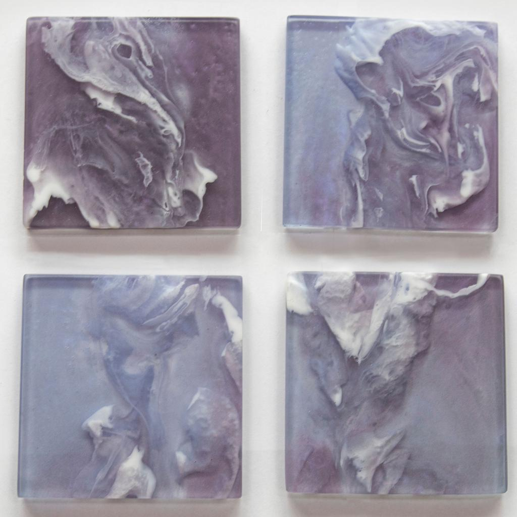 Square Resin Coaster Set