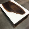 White Resin Coffee Table