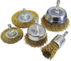5 Pc Brass Wire Brush Set